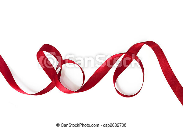 Curling Red Ribbon - csp2632708
