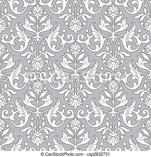Classic floral pattern - seamless wallpaper - csp2632731