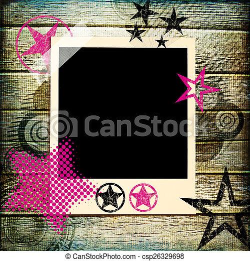 Artistic Photoalbum With Stars - csp26329698