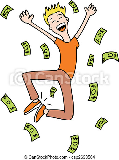 rich man jumping - csp2633564