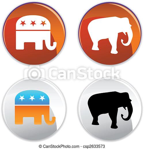 republican icon - csp2633573