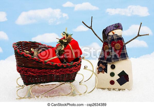 glücklich, Feiertage - csp2634389