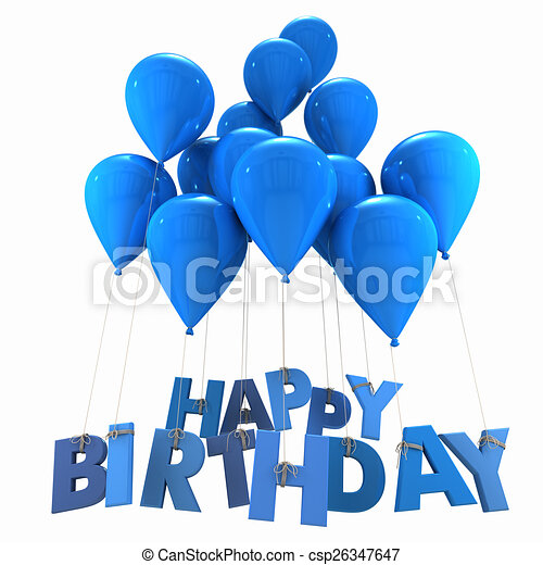 Drawing Of Happy Birthday With Blue Balloons Jpg 450x470 For Guys