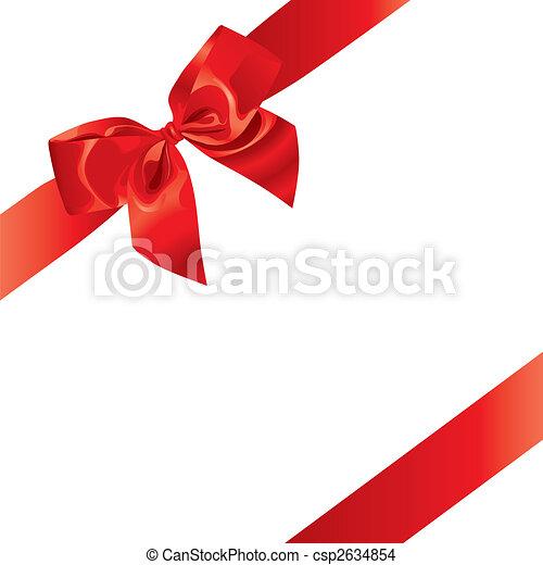 Festive Bow (vector) - csp2634854