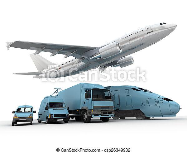 transporte, carga - csp26349932