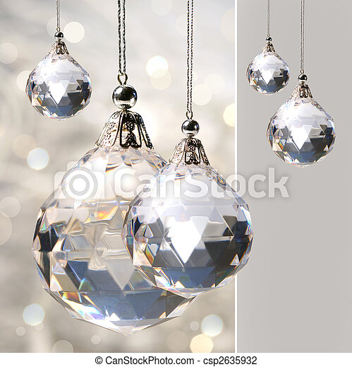 Crystal ornament hanging with lights - csp2635932
