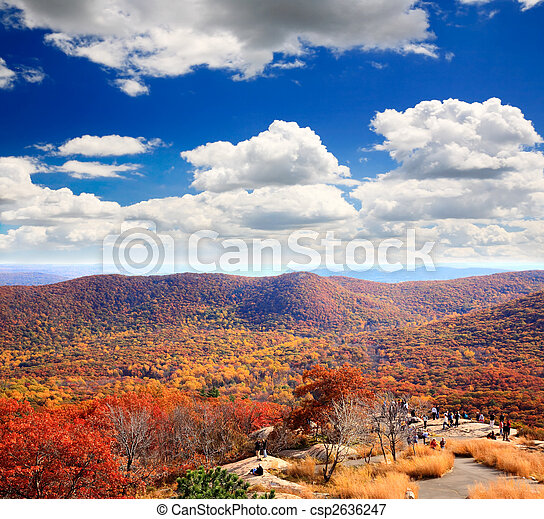 The foliage scenery from the top of Bear Mountain - csp2636247
