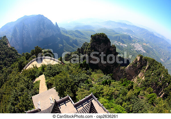 The scenery of Yun-Tai Mountain, a World Geologic Park - csp2636261
