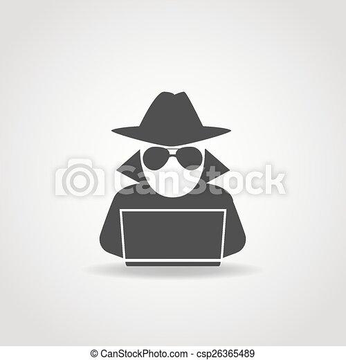 Anonymous Computer Icon - csp26365489