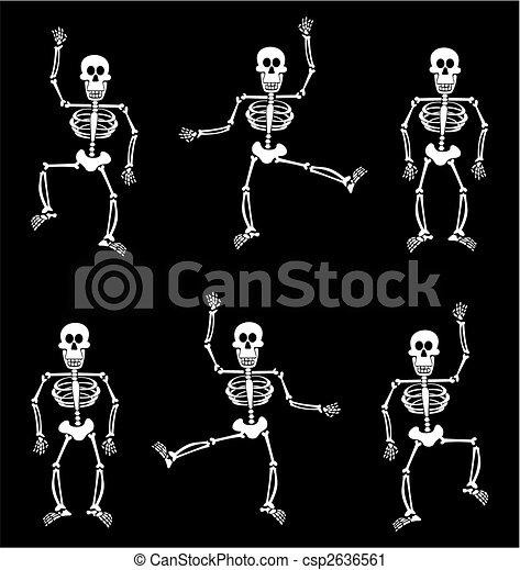 dia das bruxas, pattern., esqueleto, fundo, pretas - csp2636561
