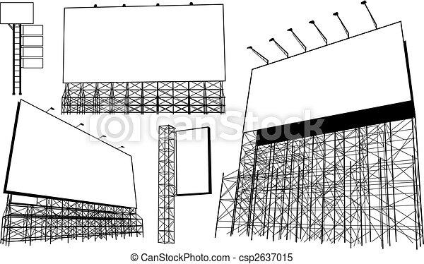 Advertisement hoardings - csp2637015