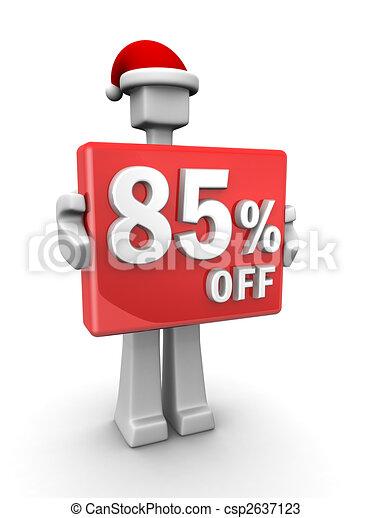 Christmas celebration seasonal sales - csp2637123