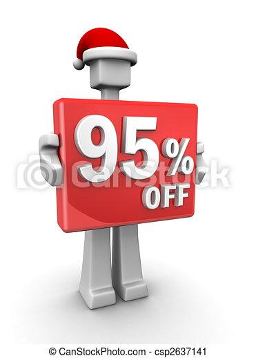 Christmas celebration seasonal sales - csp2637141