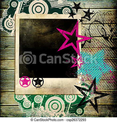 Abstract Background With Photo - csp26372293