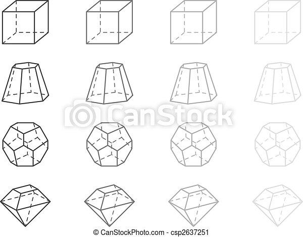 clipart de g om trie figures gray g om trie figures csp2637251 recherchez des clip art. Black Bedroom Furniture Sets. Home Design Ideas
