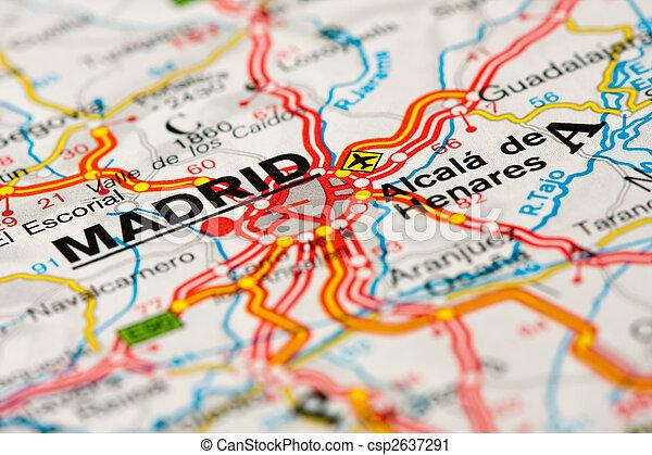 photographies de carte autour de route madrid fin haut de a route csp2637291. Black Bedroom Furniture Sets. Home Design Ideas