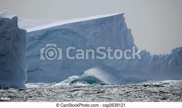 Iceberg in stormy seas - csp2638121