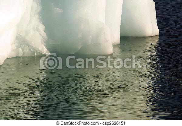 Climate change: melting iceberg - csp2638151
