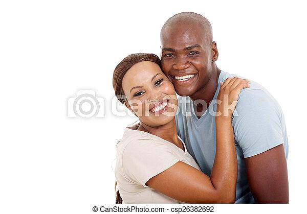 paar, junger, afrikanisch - csp26382692