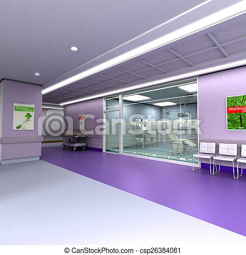Modern clinic in purple