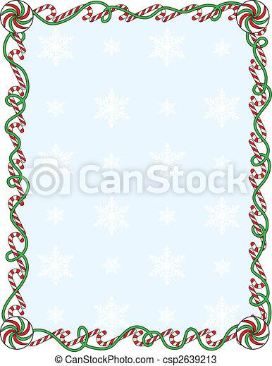 Candy Cane Border - csp2639213