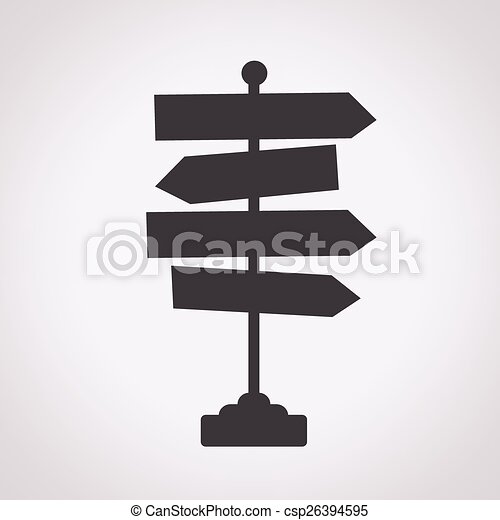Direction road sign icon - csp26394595