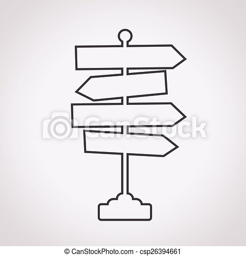 Direction road sign icon - csp26394661