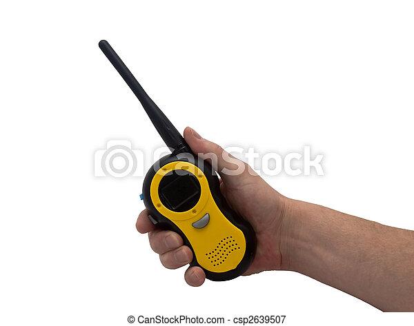 hand & walkie talkie  - csp2639507