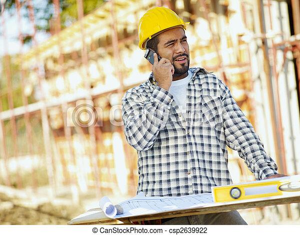 construcción, trabajador - csp2639922
