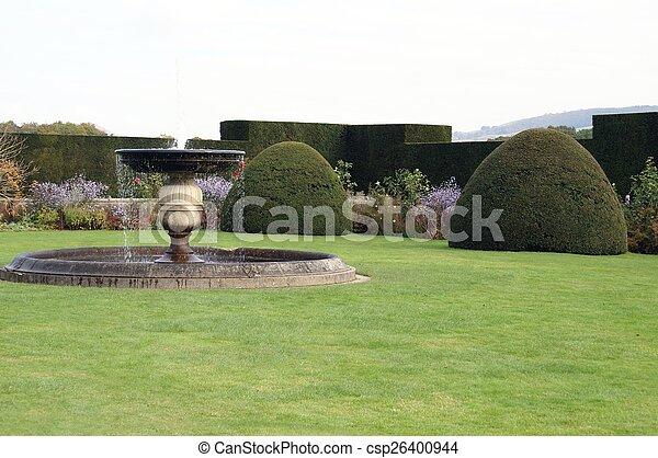 Powis castle garden, Wales, England