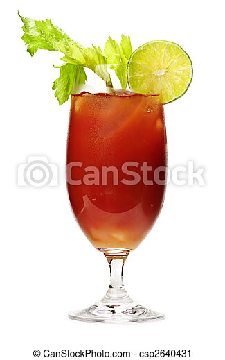 Bloody mary drink - csp2640431