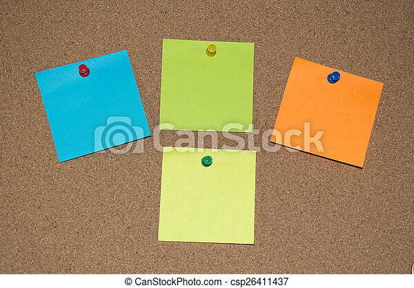 Multi Coloured Post it Notes