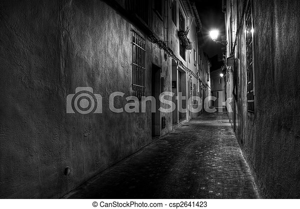 Narrow European Street - csp2641423