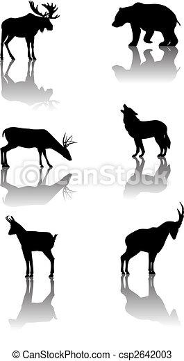 Set of mountain animals - csp2642003