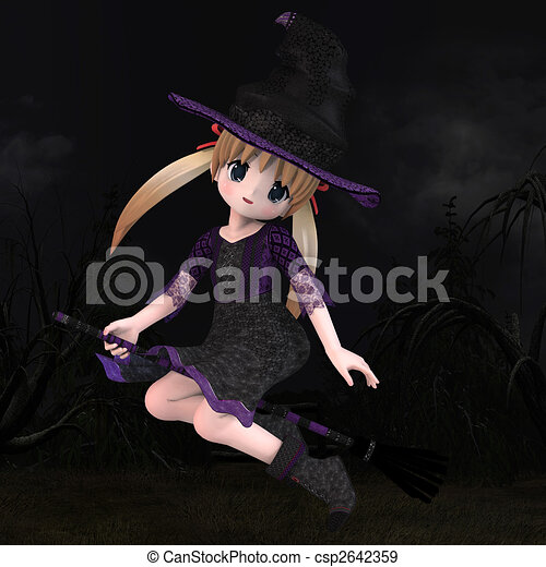 Little Hallowen Witch #01 - csp2642359