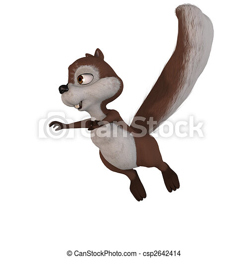 A very cute squirrel. lovely face and funny animations.With Clipping Path / Cutting Path - csp2642414
