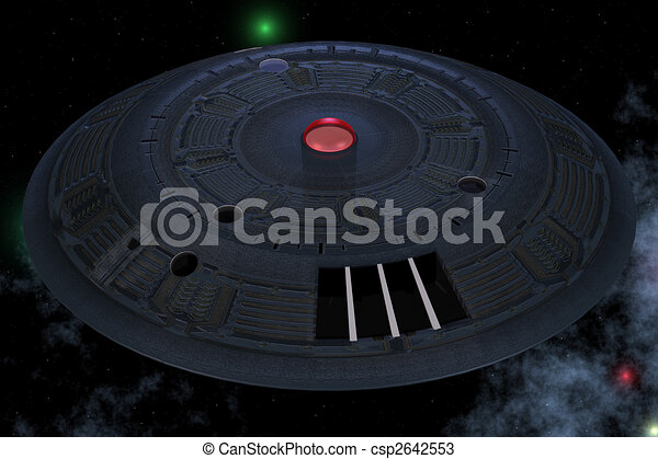 Unidentified Flying Object from Outerspace with BackgroundImage contains a  / Cutting Path for the main object - csp2642553
