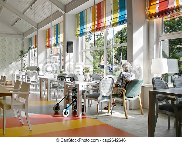 cafe in elderly house - csp2642646