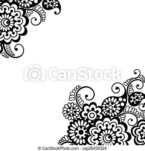 Fleur Vecteur Ornement Coin 26430324