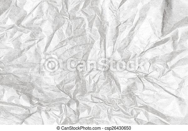 Crumpled white paper background texture. Vintage craft paper tex