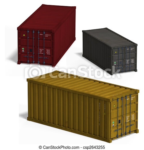 collection of three container - csp2643255