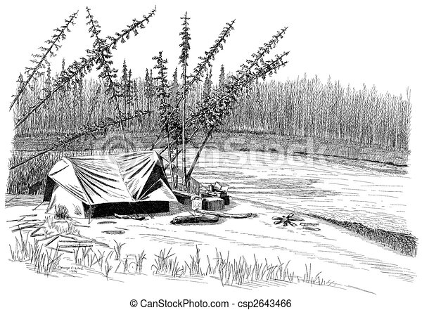 Camp on the Wood River - csp2643466