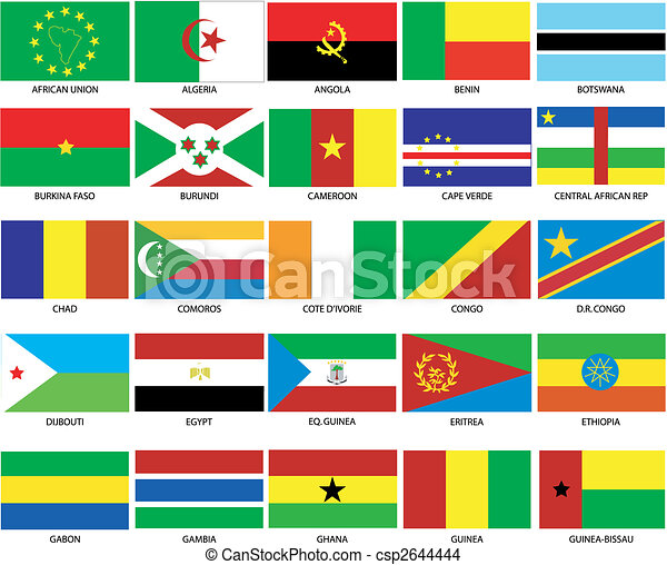 25 African Flags 1 - csp2644444