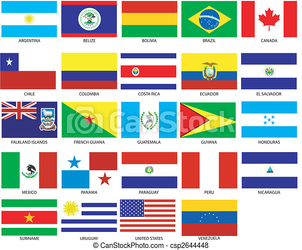 24 Americas Flags - csp2644448