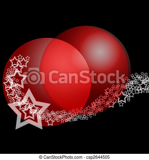 Christmas Fantasy Abstract Ornament  - csp2644505