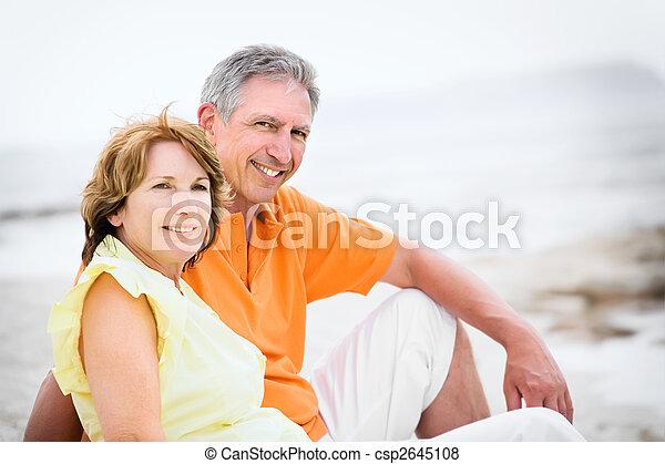 mûrir,  couple, sur, Fetes - csp2645108
