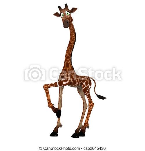 Illustration de mignon rigolote figure girafe - Girafe rigolote ...