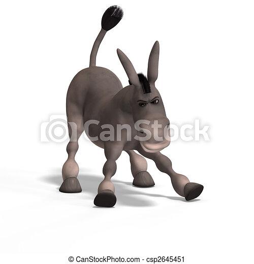 very cute toon donkey - csp2645451