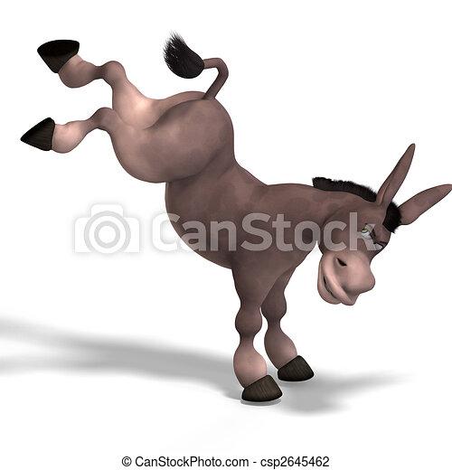 very cute toon donkey - csp2645462