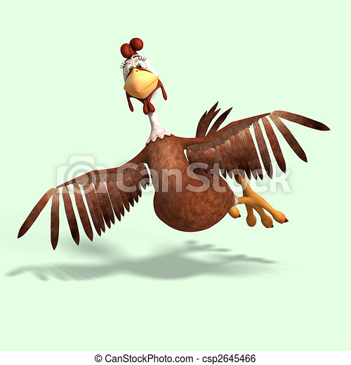 crazy cartoon chicken - csp2645466